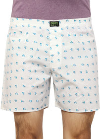 Magneto White Printed Boxers For Men