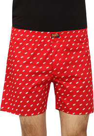 Magneto Red Printed Boxers For Men