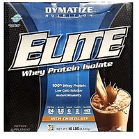 Dymatize Elite Whey Protein Isolate, 10 Lb Rich Chocolate