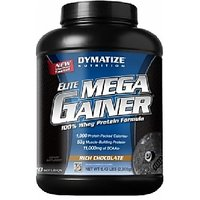 Dymatize Elite Mega Gainer, 6.4 Lb Rich Chocolate
