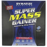 Dymatize Super Mass Gainer, Strawberry 12 Lb
