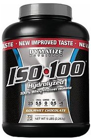 Dymatize Nutrition Iso 100 Whey Protein Isolate Powder - 5 Lbs (Gourmet Chocolate)