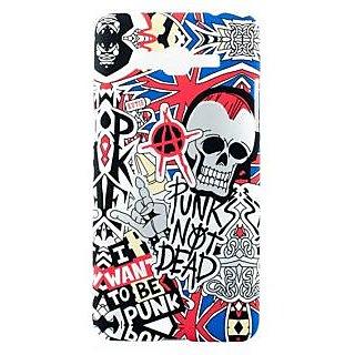 KMS Graffiti Design Smooth Soft  Case for Samsung Galaxy A3 - Punk