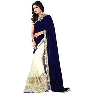 Faux Georgette Digital Printed Saree With Blouse