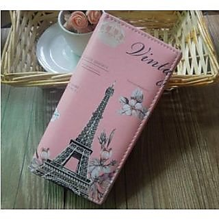 Vintage Wallet - Paris - hot Pink