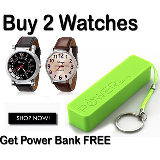 Buy 2 watches and get 2600 mah power Bank Free