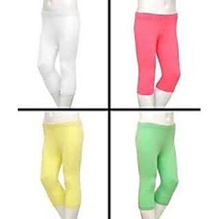 revin branded multi purpose 3/4th legging white colour tights hip thick cloth