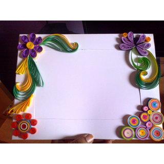 paper quilling photo frame rh shopclues com