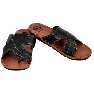 ce7d4b639708b5 Buy Guardian Mens Black Slip on Sandals Online - Get 13% Off