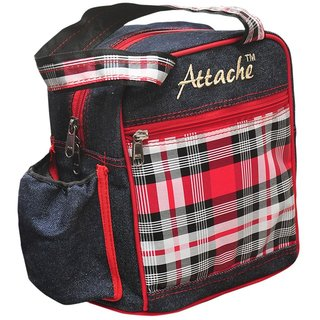 Attache Red Purple Lunch Bag