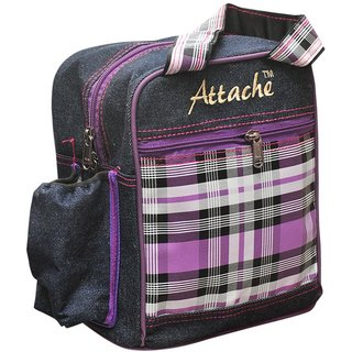 Attache Blue Purple Lunch Bag