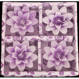Classy Flower Floating 4 nos Wax Candle gift set