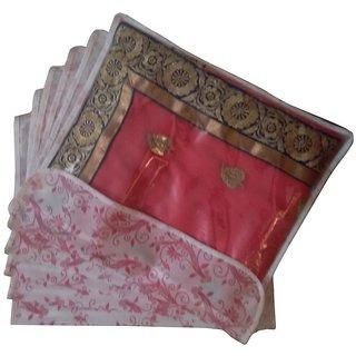 Fashion Bizz Saree Cover Pack Of 6-Multicolour