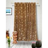 Muskaan Eyelet Karma Eyelet Curtains - Brown (MTCW 0214)