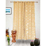 Muskaan Eyelet Karma Eyelet Curtains - Beige (MTCW 0218)