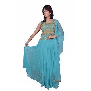 Shreeya womens firozi Georegette Suit