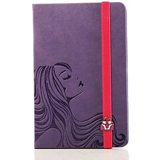 Doodle Chic Flowing Hair Diary A5 Stationary Notebook Soft Bound Lavendar