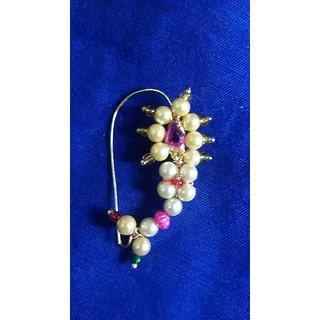 Buy Yashashri Maharashtrian Moti Nathni Nose Ring Online 219