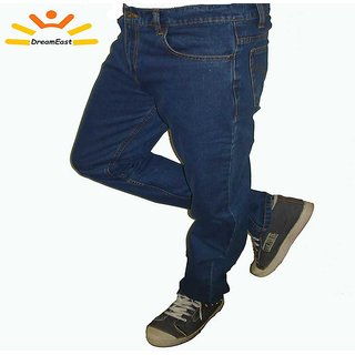 Men's Dark Blue Straight Fit Stylish Jeans