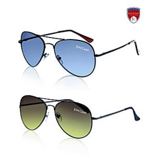 Jon Camy Ravishing Aviator Sunglasses - Buy 1 Get 1 Free(CA Combo1)
