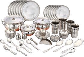 Klassic Vimal Stainess Steel 101 Pcs Dinner Set