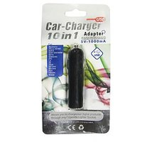 Akasaki Car Charger 10 In 1  USB Data Cable Black
