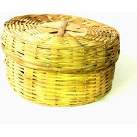 Indian Traditional Wooden Fruit And Chapati Basket