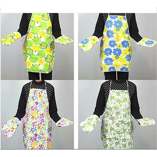 Kitchen Apron, Glove  Heat Pad Set