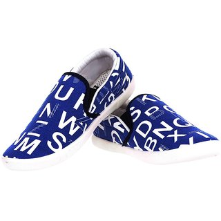 tsc men's blue and white slip on casual shoes