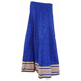 Buy Ethnic Design Royal Blue Gota Work Cotton Lehenga 316 Online
