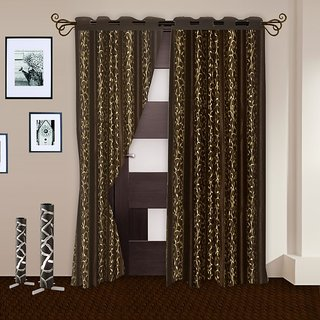 Story@Home Brown Door Curtain 2 Pc - Dnr2011