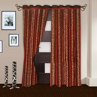 Story@Home Red Door Curtain 2 Pc - Dnr2012