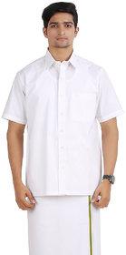 ANYTIME COTTON Men's  JH 1 Classic  White  Shirt