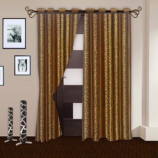 Story@Home Brown Door Curtain 2 Pc - Dnr2014