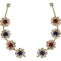 Pink and Blue Designer Ear-Cuffs ER-1260