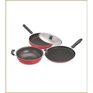 Vaartha 3 Piece NonStick Cookware Set