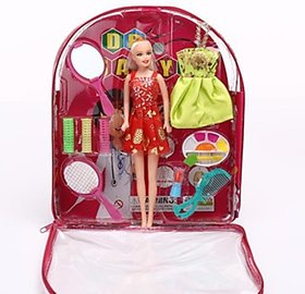 New Pinch Beautiful Doll With Makeup set(Multicolor)