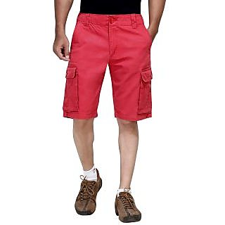 London Bee Solid Men's Cargo Shorts  MSLB0028