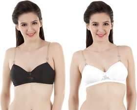 Vermilion All Day Seamless T-Shirt Bra (NP030WHT/BLK)