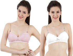 Vermilion All Day Seamless T-Shirt Bra (NP030WHT/PNK)