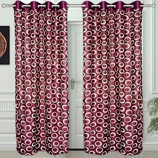 Story@Home Maroon set of 2 Door Curtain(7 feet) - Dnr2022