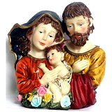 "Joseph Mother Mary With Jesus 10"" Fiber Model"