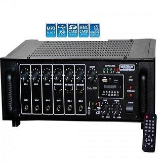 MEDHA 300 WATT PROFESSIONAL HIGH POWER P A  AMPLIFIER WITH DIGITAL MEDIA  PLAYER