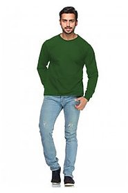 Demokrazy Men's Green Round Neck T-Shirt