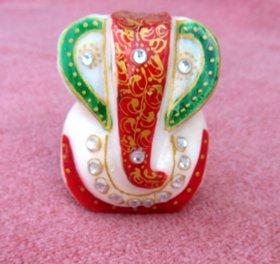 Chitrahandicraft Marble Ganesh JI