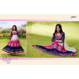 J's Creations Semi Stitched Exclusive Designer Anarkali JC-7252