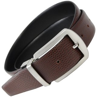 Midas Reversible Leather Belt (Black,Brown)