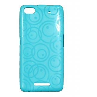 low priced 96be3 523bd Gizmofreaks Circular Design Back Cover for Micromax Canvas 4 Plus A315 -  Cyan