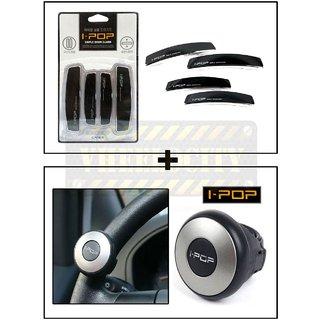 I Pop Car Door Guard Black  + I Pop mini Steering Wheel Knob