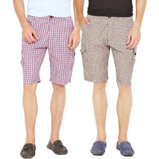 Factorydirect Men's Black Shorts (Set of 2)